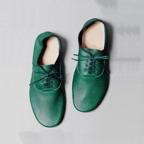 SIMPLE STYLE LACE-UP SOFT FLATS LOAFERS