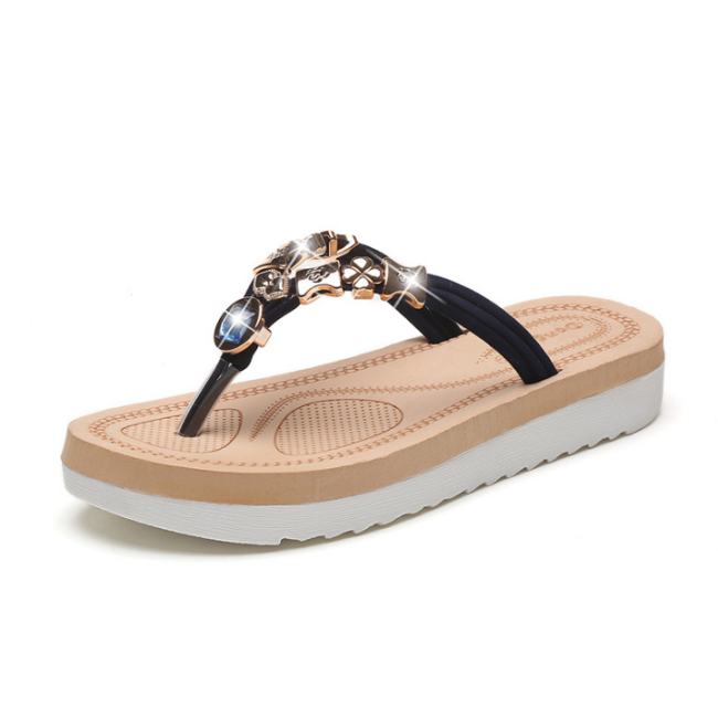 Women Flats Sandals Ladies Beach Slippers Girls Flip-flops