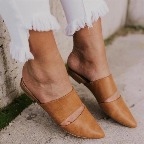 Women's Versatile Simple Pointed Flat Mules