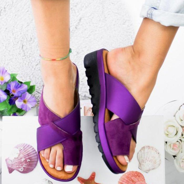 Women Bronze Slip-on Slippers