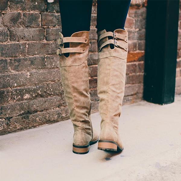 Women Vintage Casual Zipper Plus Size Shoes