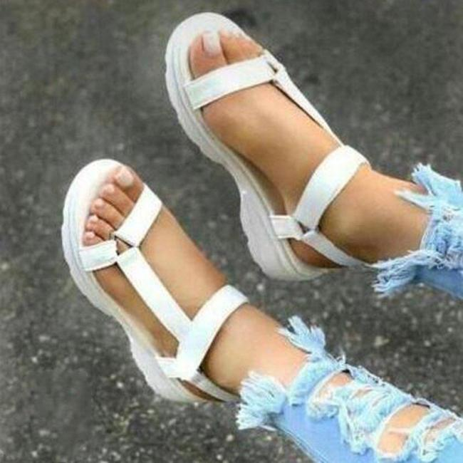 Ladies Strap Plain Colored Sandals