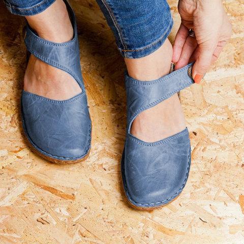 Vintage Flat Heel Magic Tape Loafers
