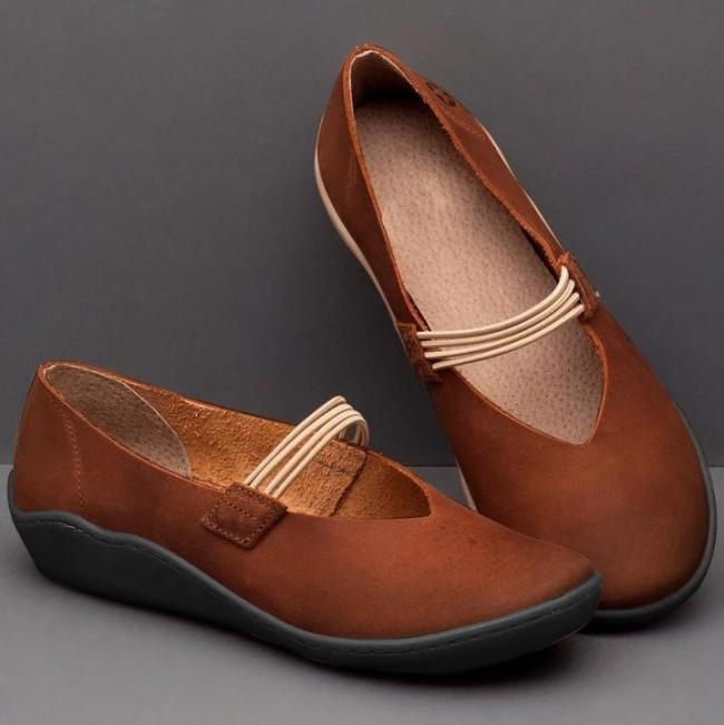 Women's Flat Comfort Leather Mary Jane Shoes