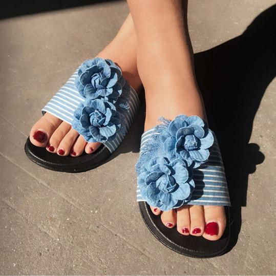 Denim fashion sandals