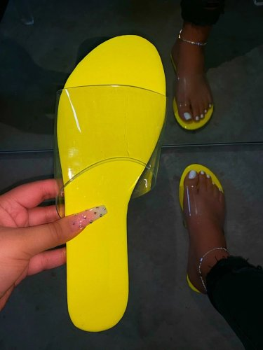 Slip-On Flip Flop Serpentine Flat With PVC Slippers