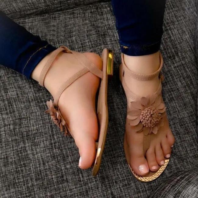 Flower Lace Up Sandals