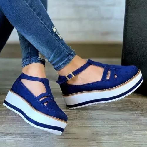Summer  Buckle Suede Plus Size Sandals
