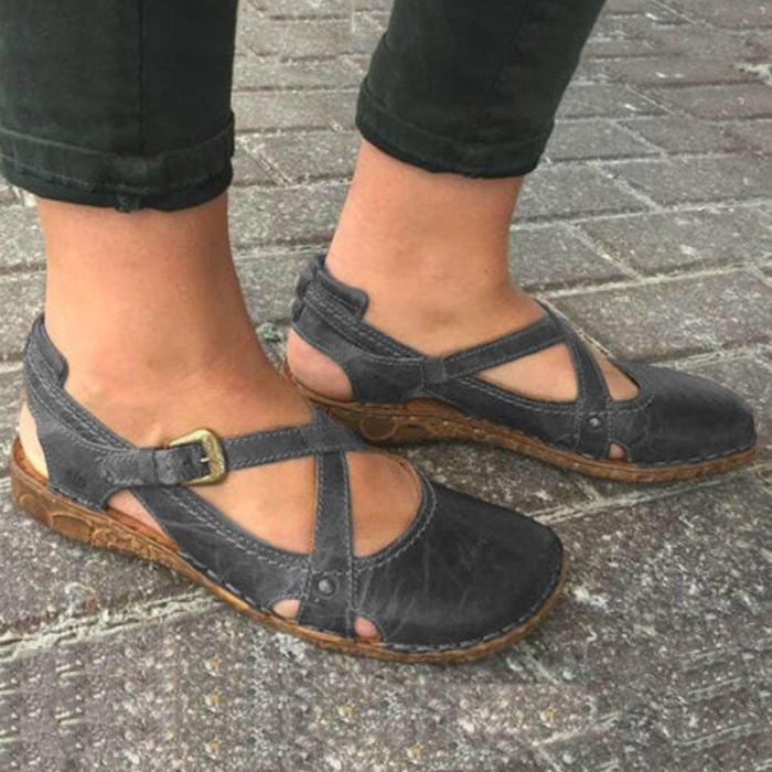 Women round toe soft sole casual shoes