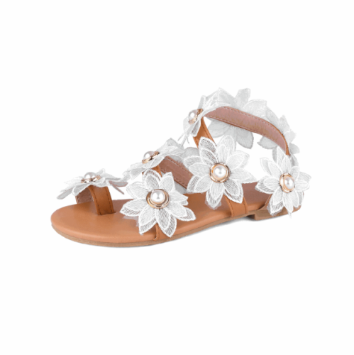 Women's Flat Fashion Flower Light Breathable Simple Sandals