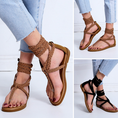 Women Rhinestones Platform Beach Sandals