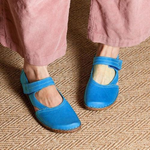 Vintage Flat Heel Magic Tape Loafers