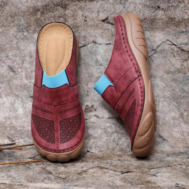 Women Flower Pattern Breathable Backless Sandals