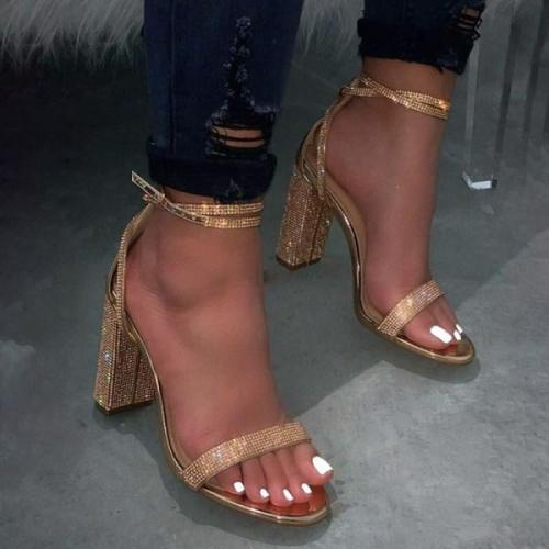Fashion Diamond High Heel Sandals