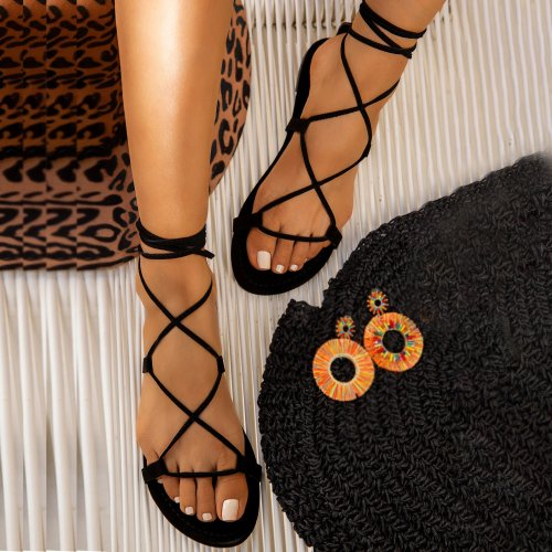 New Comfort Flat Flat Cross Sandals