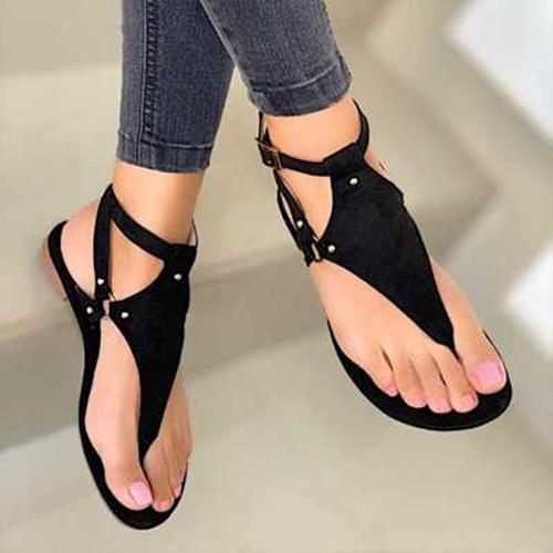 Slip On Flat Heel Sandals