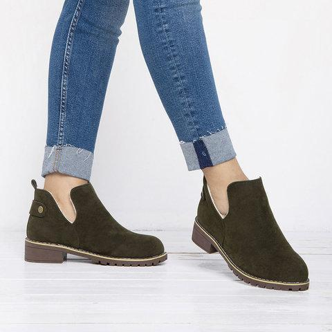 British Style Outdoor Faux Suede Martin Boots