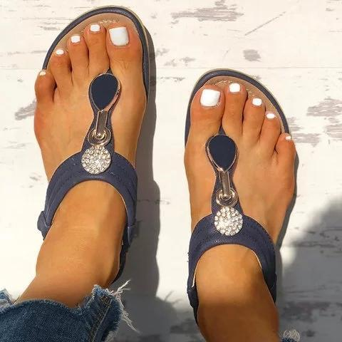 Women Summer Casual Slip On Comfy Sandals