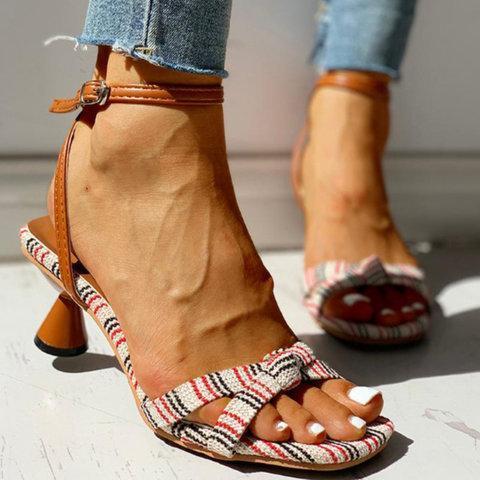 Women Summer Elegant Open Toe Heel Sandals