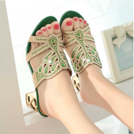 2020 Summer Open Toe Chunky Heels Women Sandals