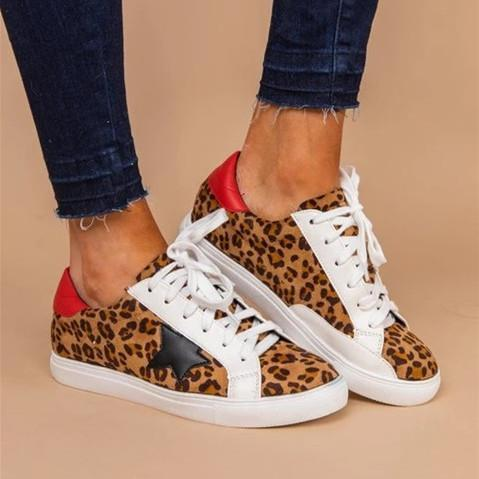 All Season Flat Heel Lace Sneakers