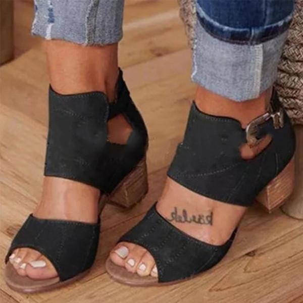 Women Slip-on Stylish Mid Heel Shoes