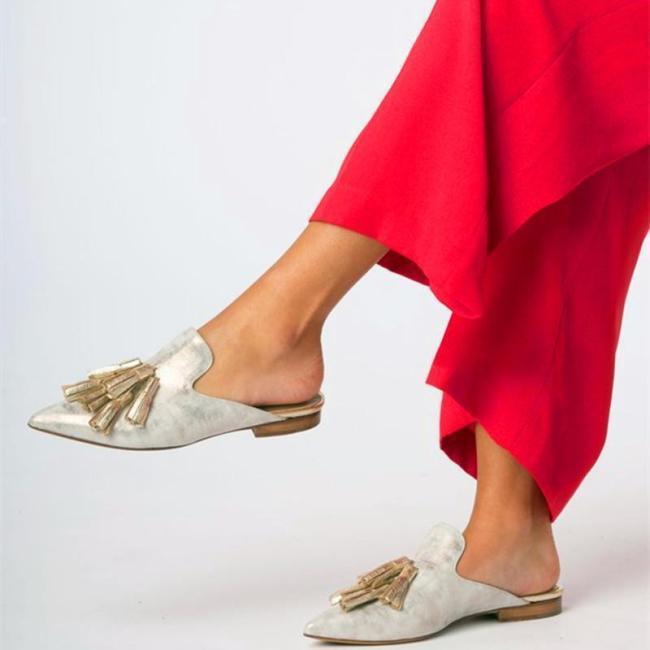 Fashion Vintage Woven Flat Mules