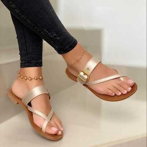 Summer Flat Heel  Plus Size Sandals