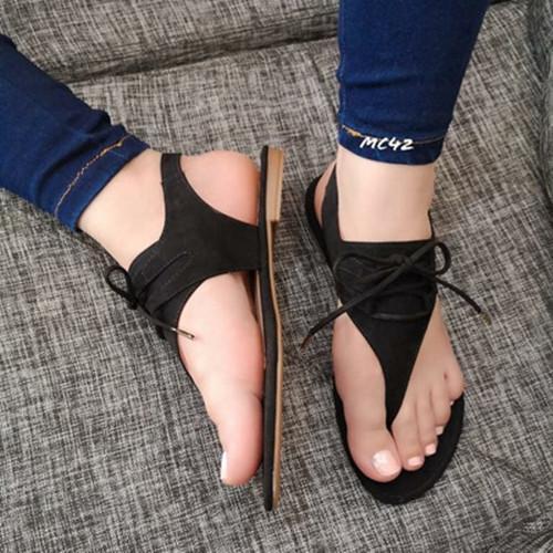 Women Flat Heel Lace Up Snadals