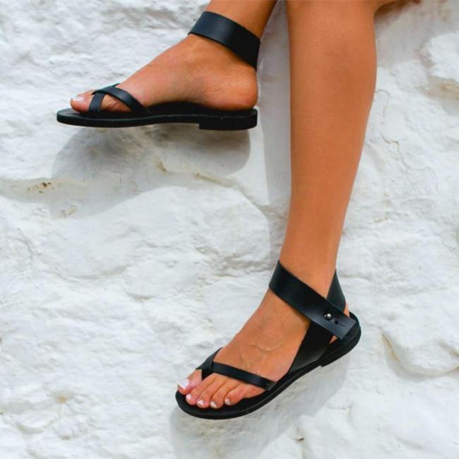 Women's Black Light Gladiator Sandals