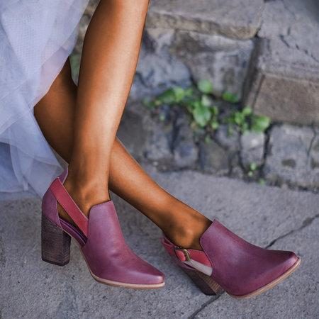 Women Casual Vintage Chunky Heel Booties Sandals Buckle Sandals