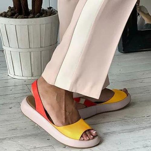 WOMEN CASUAL SHOES FAUX LEATHER SANDALS