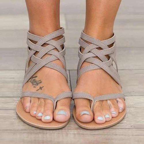 Female Flat Sandals Rome Style Sandals