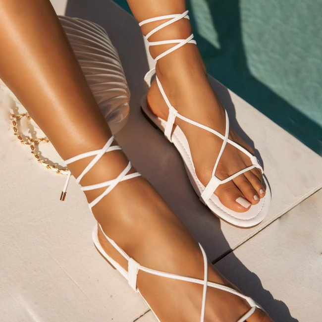 New Comfort Flat Flat Cross Sandals