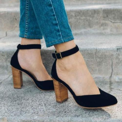 Women Sexy Chunky Heel Sandals