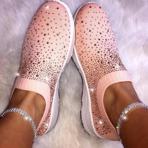 Women Shiny Sock Sneakers
