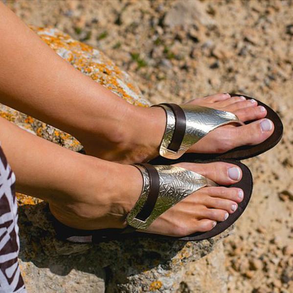 Flat Peep Toe Casual Comfort Slippers