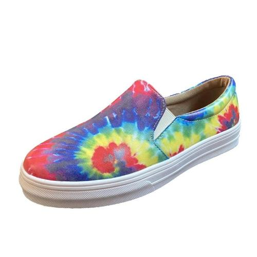 Women Multicolor Slip On Platform Skate Shoes
