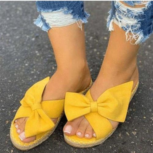Casual Bow Platform Sandals