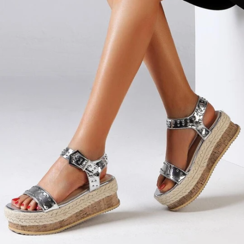Ankle Strap Buckle Platform Sandals