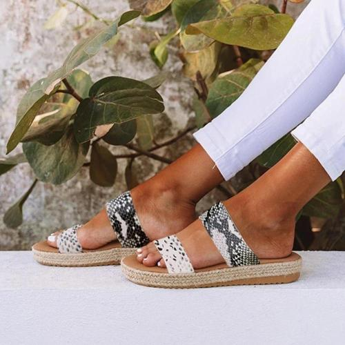 Womens Open Toe Espadrille Two-Strap Low Heel Sandals