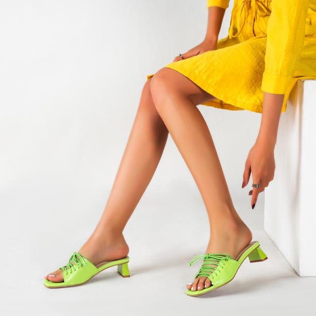 Peep Toe Lace-up Heeled Sandals