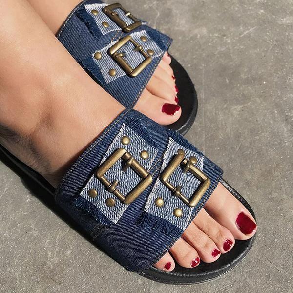 Women Summer Canvas Beach Slippers
