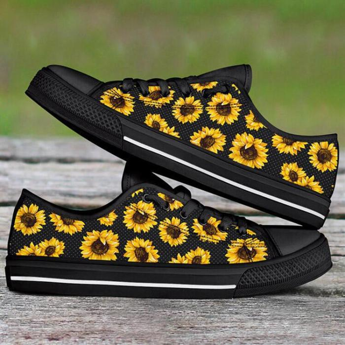 Sunflower Lace Up Flat Sneakers