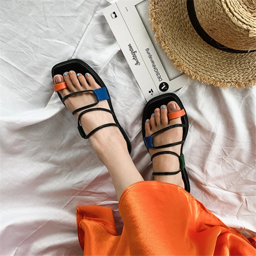 Knish's Multicolor Gladiator Flats