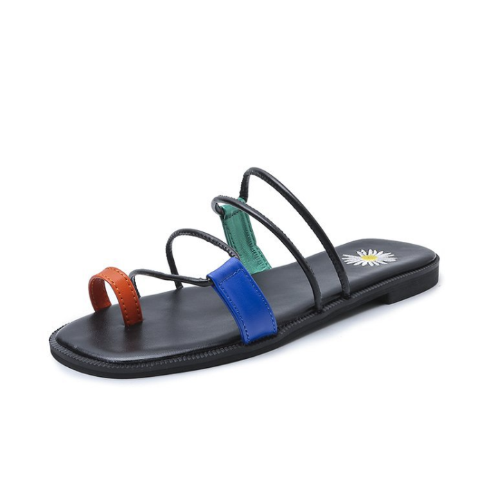 Knish's Multicolor Gladiator Flats