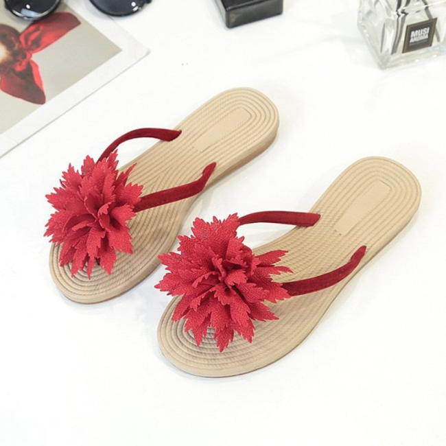 Summer Fashion Leisure Beach Flower Flip Flop