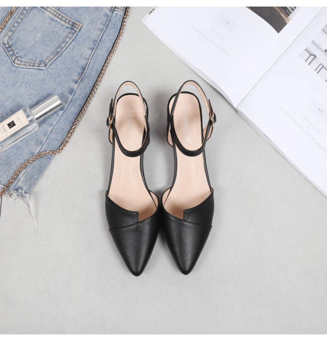 Pointed Toe Block Heel Slingback Shoes Wedding Shoes