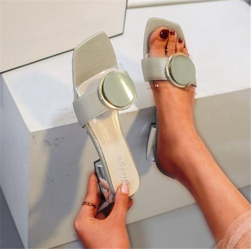 Women Peep Toe Chunky Heel Date Summer Sandals