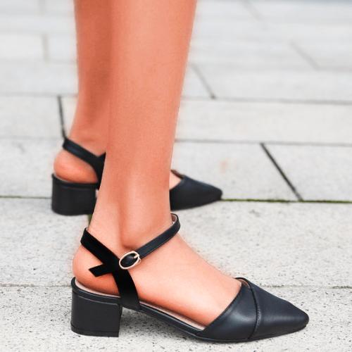 Pointed Toe Block Heel Slingback Shoes Wedding Shoes